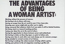 The Advantages of Being a Woman Artist (Guerrilla Girls)